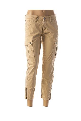 Pantalon 7/8 beige MUSTANG pour femme
