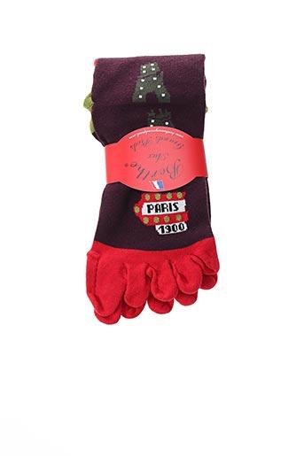 Chaussettes rouge BERTHE AUX GRANDS PIEDS pour femme