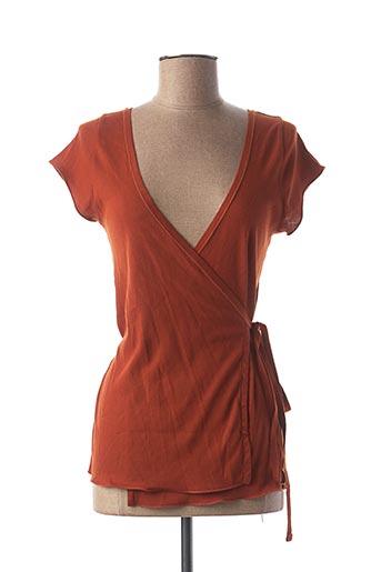 Gilet cache-cœur orange SOEUR pour femme