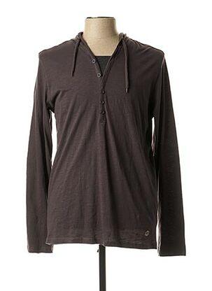 T-shirt manches longues gris TEDDY SMITH pour homme