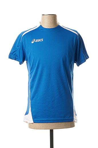 T-shirt manches courtes bleu ASICS pour homme