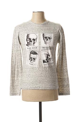 T-shirt manches longues gris KAPORAL pour garçon