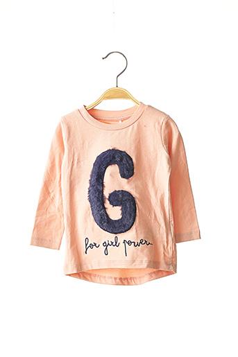 T-shirt manches longues rose NAME IT pour fille