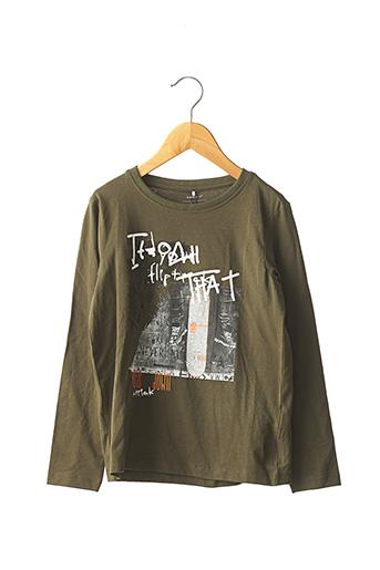 T-shirt manches longues vert NAME IT pour garçon