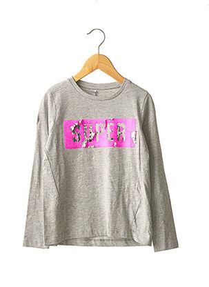 T-shirt manches longues gris NAME IT pour fille