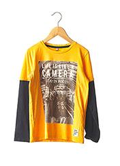 T-shirt manches longues jaune NAME IT pour garçon seconde vue