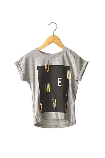 T-shirt manches courtes gris NAME IT pour fille