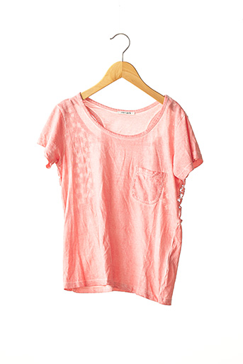 T-shirt manches courtes rose TEDDY SMITH pour fille