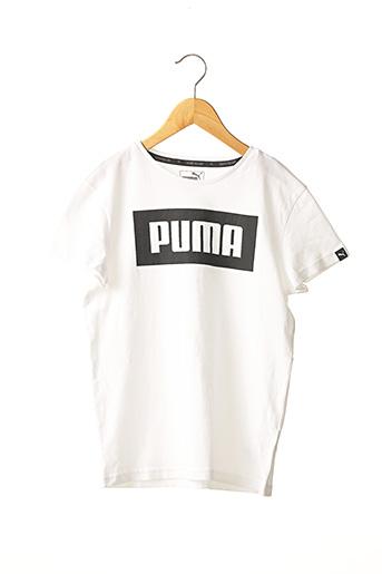 T-shirt manches courtes blanc PUMA pour garçon