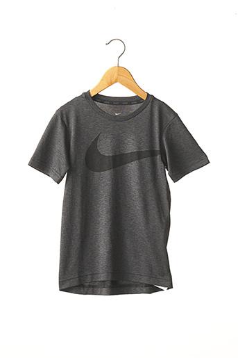 T-shirt manches courtes gris NIKE pour garçon