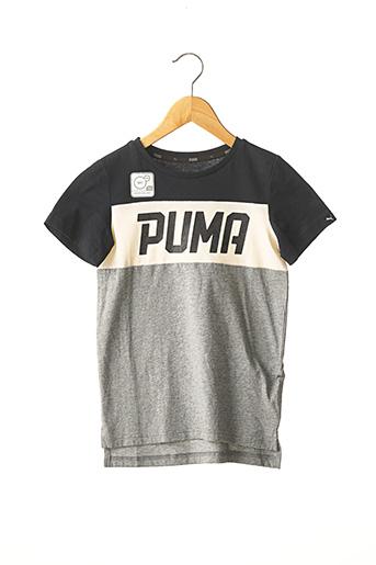 T-shirt manches courtes gris PUMA pour garçon