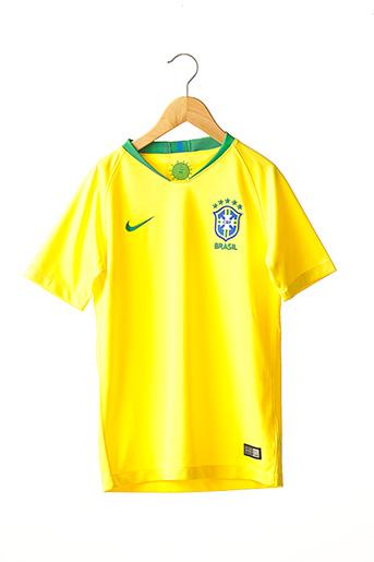 T-shirt manches courtes jaune NIKE pour garçon