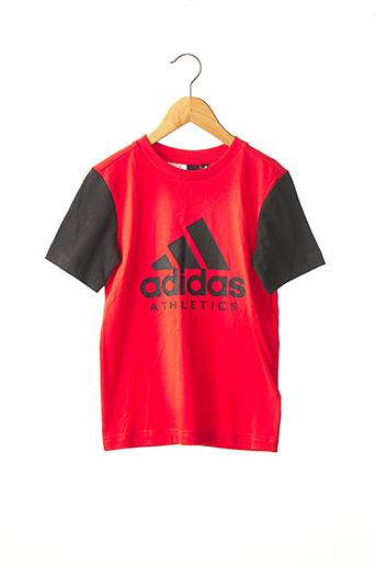 T-shirt manches courtes rouge ADIDAS pour garçon