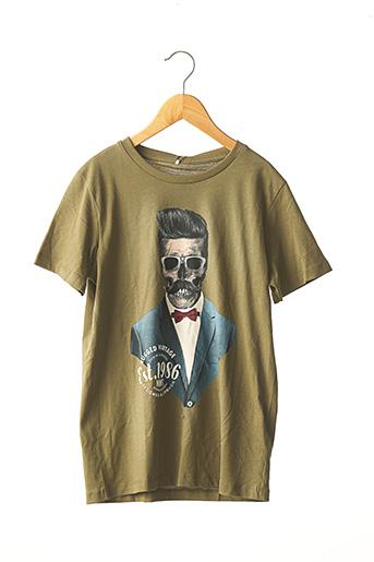 T-shirt manches courtes vert NAME IT pour garçon