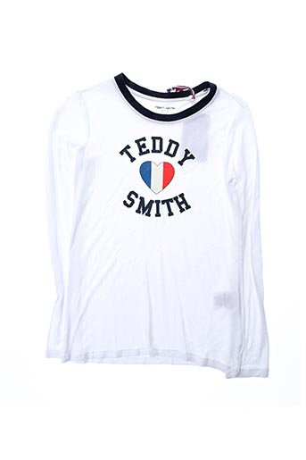 T-shirt manches longues blanc TEDDY SMITH pour fille