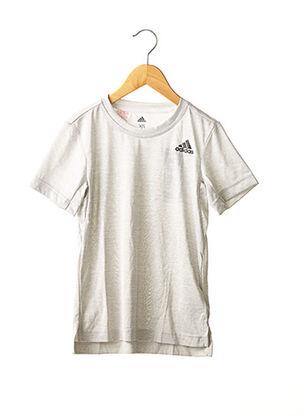 T-shirt manches courtes gris ADIDAS pour garçon