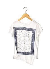 T-shirt manches courtes blanc NAME IT pour fille seconde vue