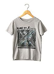 T-shirt manches courtes gris NAME IT pour garçon seconde vue
