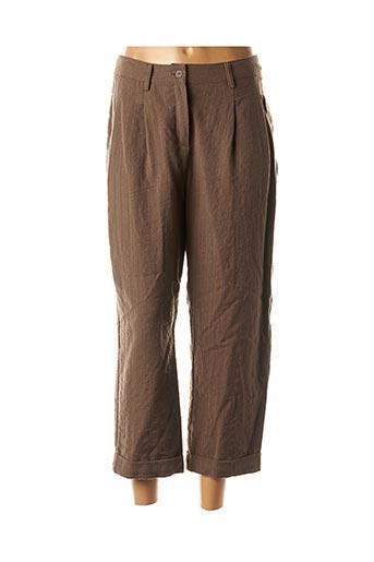 Pantalon 7/8 marron ECHAPPEES BELLES pour femme