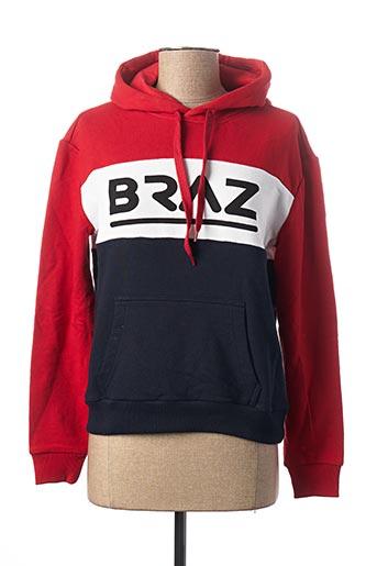 Pull col chemisier rouge BRAZ pour femme