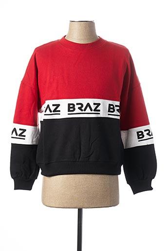 Sweat-shirt rouge BRAZ pour femme