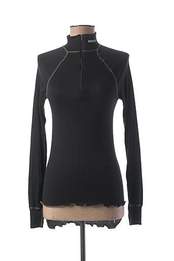 Sous-pull noir CRAFT pour femme