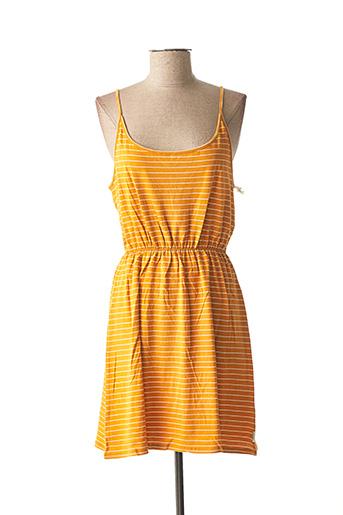 Robe mi-longue orange ELEMENT EDEN pour femme
