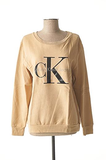 Sweat-shirt beige CALVIN KLEIN pour femme