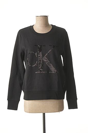 Sweat-shirt noir CALVIN KLEIN pour femme