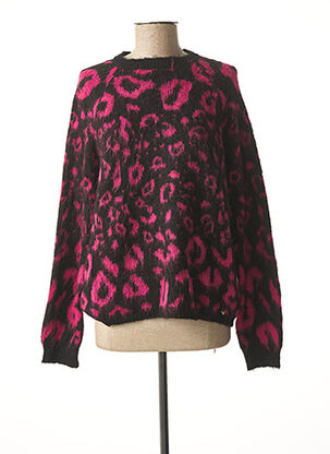 Pull col rond rose GUESS pour femme