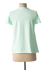 T-shirt manches courtes vert GUESS pour femme seconde vue