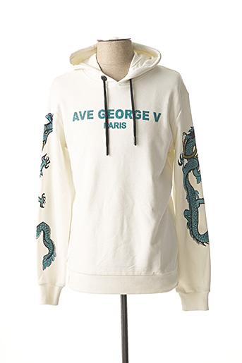 Sweat-shirt blanc AVENUE GEORGE V pour homme
