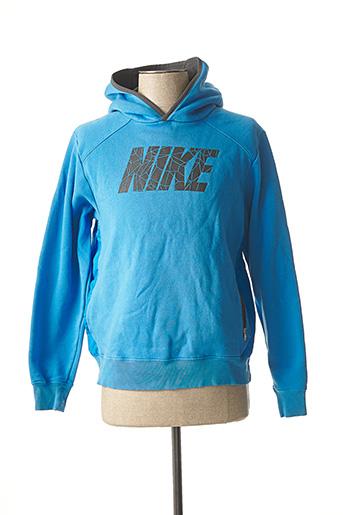 Sweat-shirt bleu NIKE pour homme