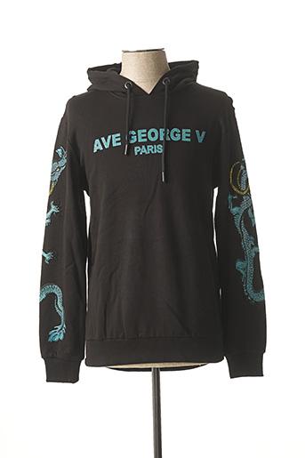 Sweat-shirt noir AVENUE GEORGE V pour homme