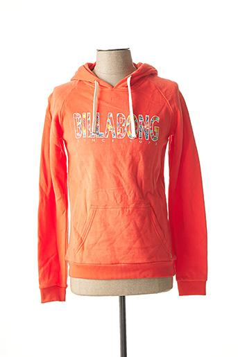 Sweat-shirt orange BILLABONG pour homme