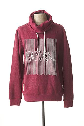 Sweat-shirt rouge KAPORAL pour homme