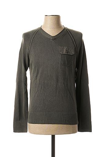 T-shirt manches longues vert KAPORAL pour homme