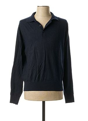 Pull col chemisier bleu REAL CASHMERE pour homme