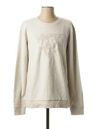 Sweat-shirt beige GUESS pour homme