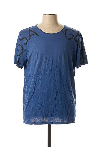 T-shirt manches courtes bleu GUESS pour homme