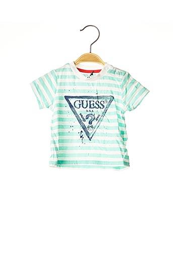 T-shirt manches courtes vert GUESS pour enfant