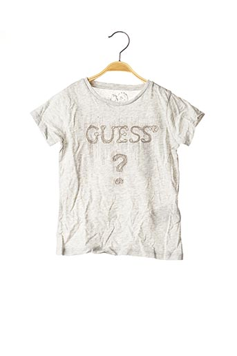 T-shirt manches courtes gris GUESS pour fille