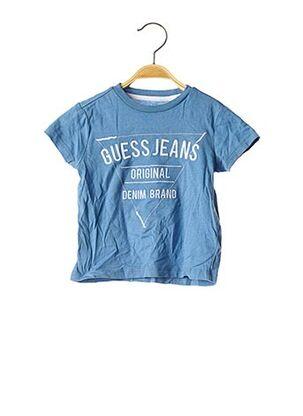 T-shirt manches courtes bleu GUESS pour garçon