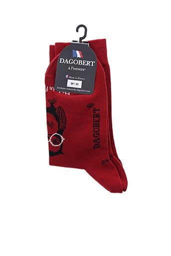 Chaussettes rouge DAGOBERT A L'ENVERS pour femme
