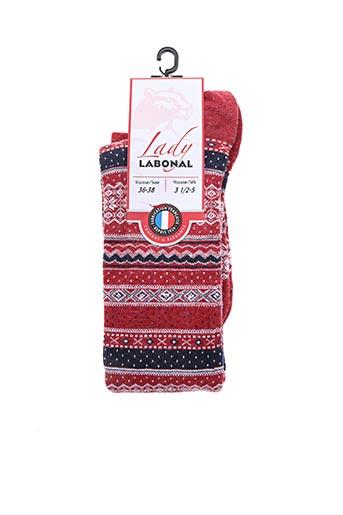 Chaussettes rouge LABONAL pour femme