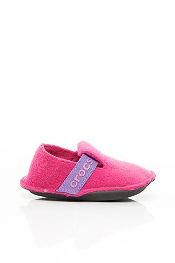 Chaussons/Pantoufles rose CROCS pour fille
