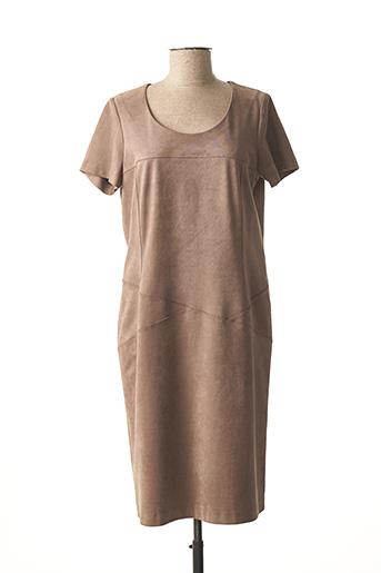 Robe mi-longue marron JEAN DELFIN pour femme