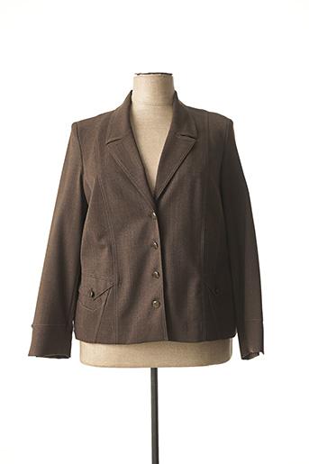 Veste chic / Blazer marron KARTING pour femme
