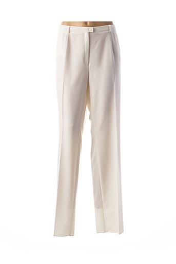 Pantalon chic beige CHRISTIAN MARRY pour femme