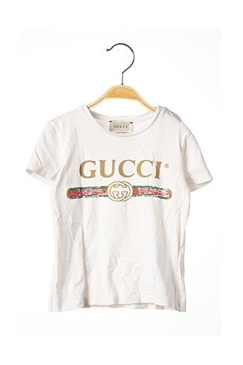 T-shirt manches courtes blanc GUCCI pour enfant